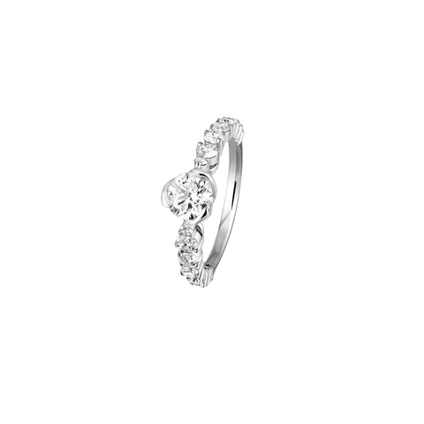 The I Do White Gold Solitaire with Diamond Setting