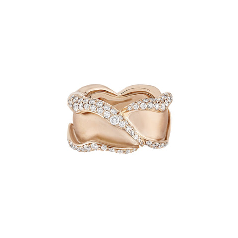 HRH Joaillerie - Rose of hope rose gold and diamonds ring