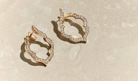 HRH Joaillerie - rose gold and diamond earrings