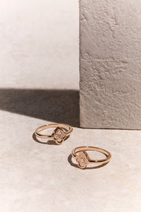 Luce - 4 Diamond Rose Gold Ring