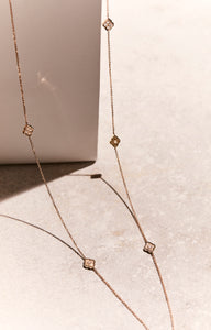 Luce - Rose Gold and Diamond Long Necklace