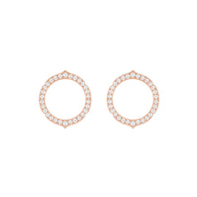 Load image into Gallery viewer, Aura - Rose Gold Diamond Earrings Small Model