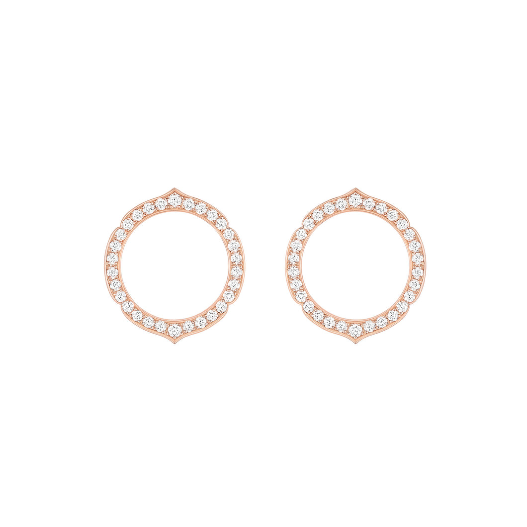 Aura - Rose Gold Diamond Earrings Small Model
