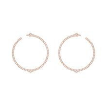 Load image into Gallery viewer, Aura - White Gold Diamond Hoops