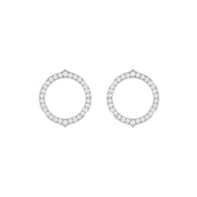 Load image into Gallery viewer, Aura - White Gold Diamond Earrings Small Model