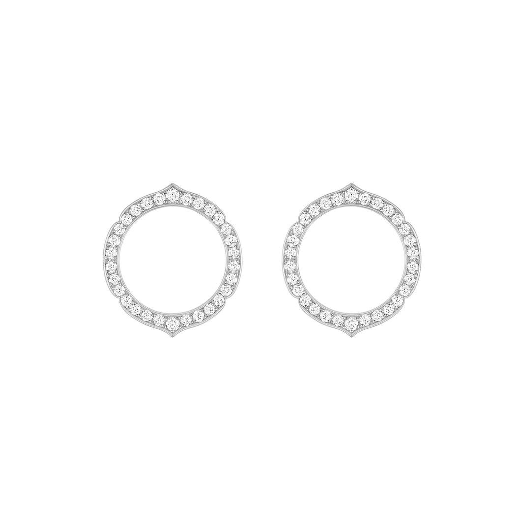 Aura - White Gold Diamond Earrings Small Model