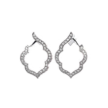 Load image into Gallery viewer, Aura - White Gold Diamond Earrings