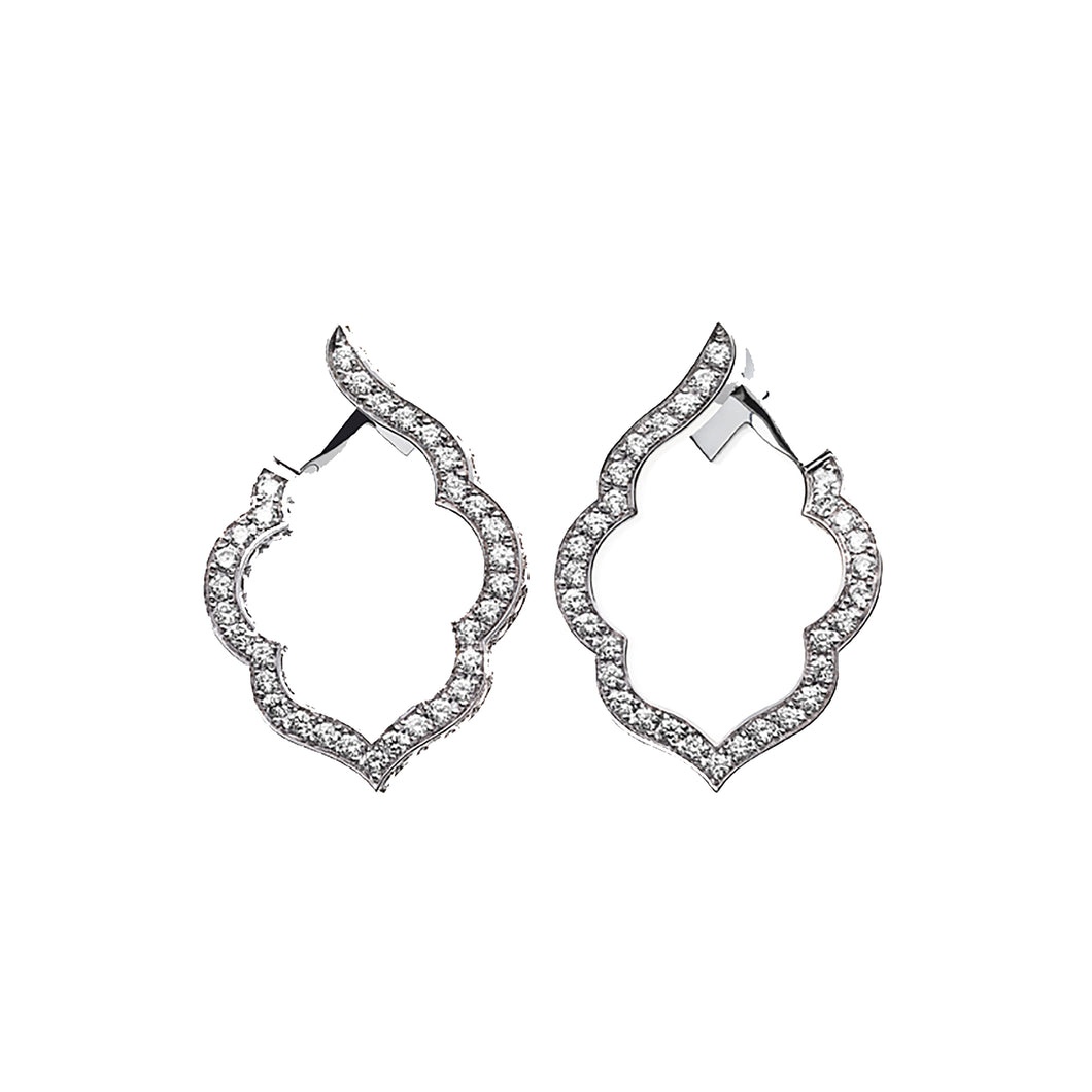 Aura - White Gold Diamond Earrings