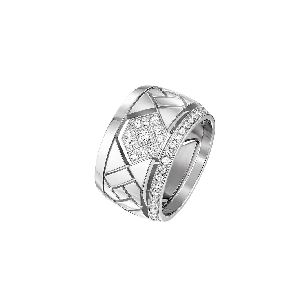 Grafik - White Gold and Diamond Ring Large Model