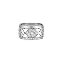 Load image into Gallery viewer, Grafik - White Gold and Diamond Ring Large Model