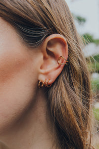 Aura - Rose Gold Trio Earring