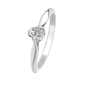 I Do - White Gold Diamond Solitaire 0.25cts