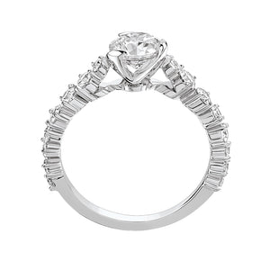 I Do - White Gold Solitaire 0.70ct with Diamond Setting