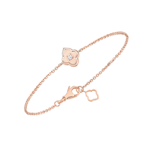 Luce - 1 Diamond Rose Gold Bracelet