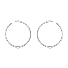 Load image into Gallery viewer, Aura - White Gold Hoop Earrings (**popular**)