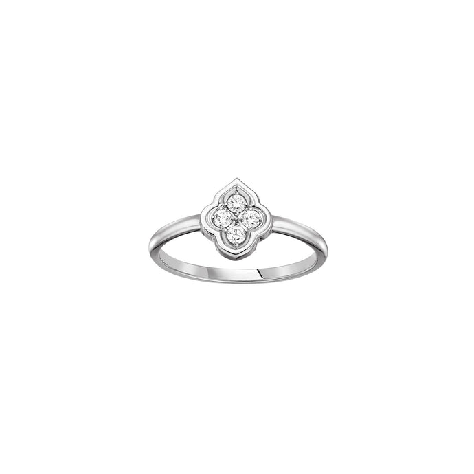 Luce - 4 Diamond White Gold Ring