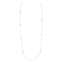 Load image into Gallery viewer, Luce - White Gold and Diamond Long Necklace