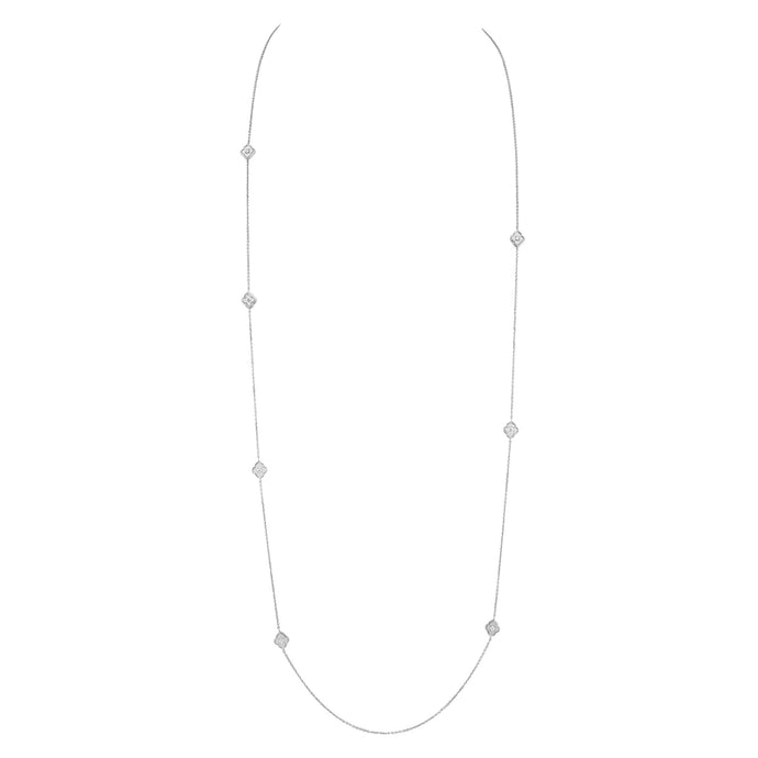 Luce - White Gold and Diamond Long Necklace