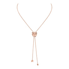 Load image into Gallery viewer, Rose of Hope - Satin Rose Gold and Diamond Necklace