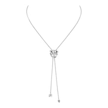 Load image into Gallery viewer, Rose of Hope - Satin White Gold Necklace