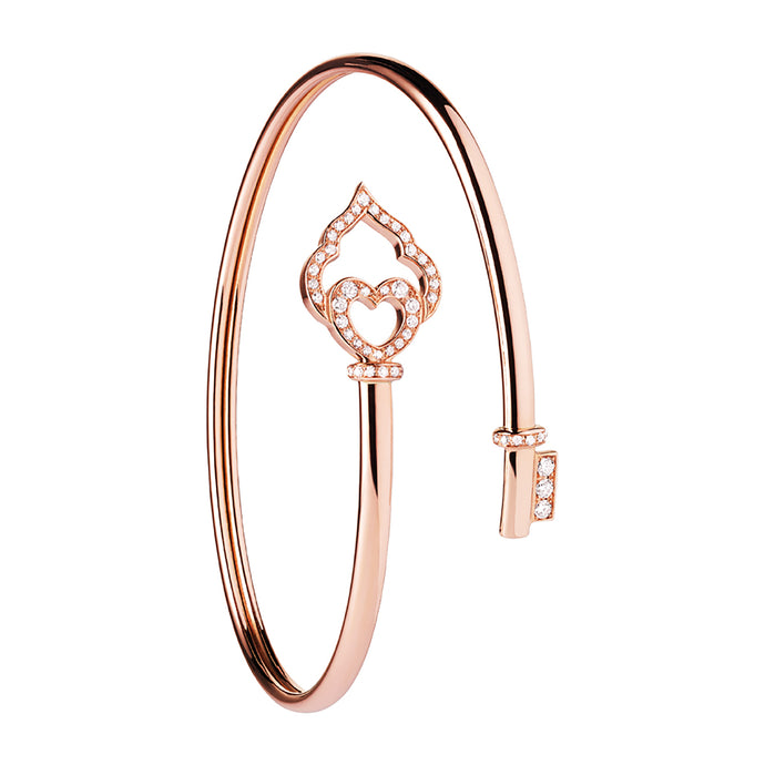 The Key - Rose Gold and Diamond Flex Bracelet