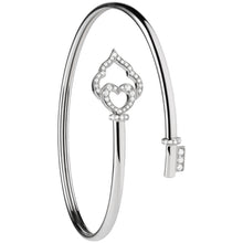 Load image into Gallery viewer, The Key - White Gold and Diamond Flex Bracelet