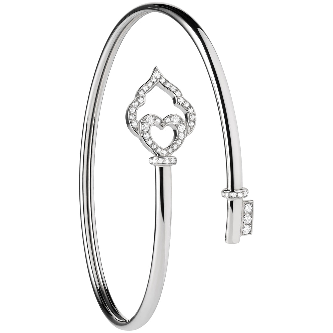 The Key - White Gold and Diamond Flex Bracelet