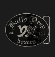 Balls Deep OG Belt Buckle In Black