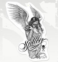 "Sullen Fallen Angel Sticker (10"" x 14"")"