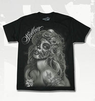 Sullen Quierda Muerta Men's T-Shirt In Black