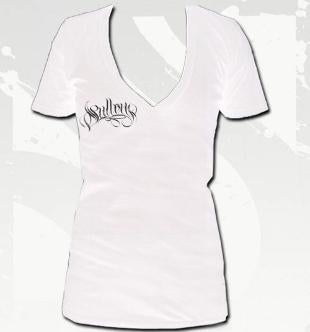 SG Embrace Women's V-Neck Tee In White