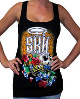 SRH Spooked Girl's Tank Top In Black