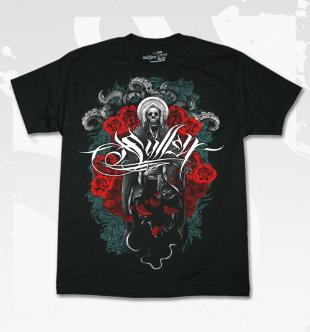 Sullen Mother Roses Men's T-Shirt In Black
