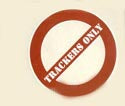 Trackers Only Skateboard Sticker  (Vintage)