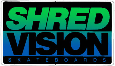Vision Shred Skateboard Sticker  (Vintage)