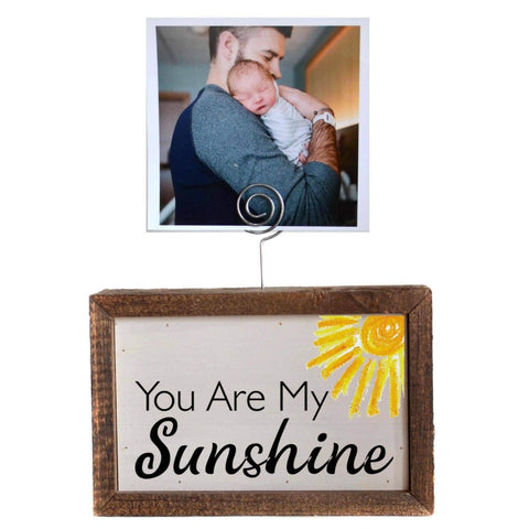 6X4 Tabletop Picture Frame Block - You Are My Sunshine