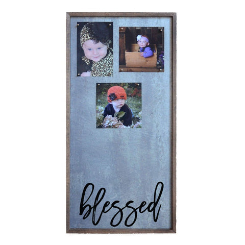 12x24 Magnetic Photo Frame - Blessed Vertical