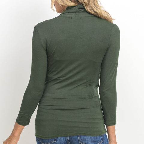 Surplice Nursing/Maternity Top - Dark Olive