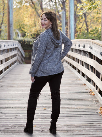 Hooded Maternity & Nursing Sweater