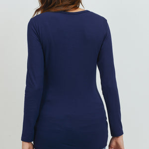 Modal Jersey Round Neck Long Sleeve Top