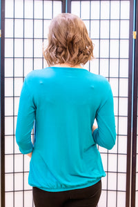 3/4 Sleeve Pleated Nursing Top