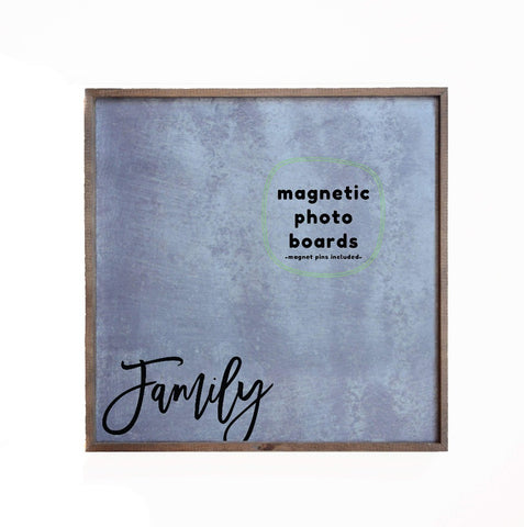 12x12 Magnetic Photo Frame - Family