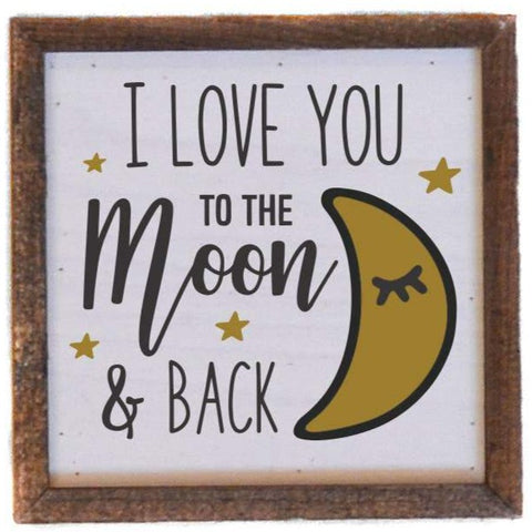 6X6 Moon And Back Kids Sign