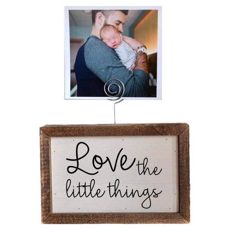 6X4 Tabletop Picture Frame Block - Love the little things