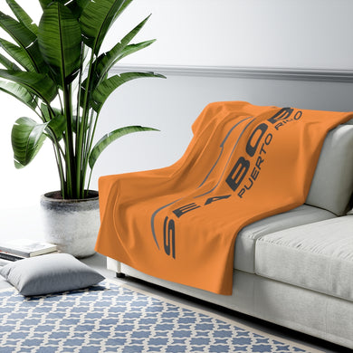Orange Sherpa Fleece Blanket