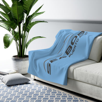Blue Sherpa Fleece Blanket