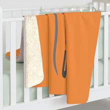 Load image into Gallery viewer, Orange Sherpa Fleece Blanket