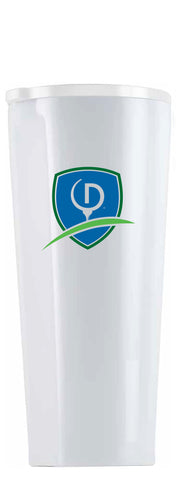 Modernist White Tumbler, 24 oz