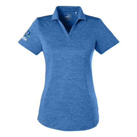 Puma Golf Ladies' Icon Heather V-Neck Polo - TOC Logo (RS)
