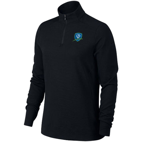 Nike Dri-FIT Ladies UV Quarter-Zip Cover Up - Shield logo